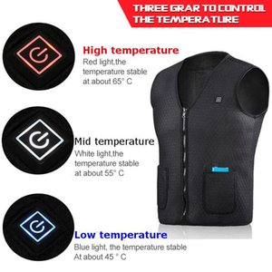 2020 USB Infrared Electric Heating Vest Women Outdoor Flexible Thermal Winter Warm Jacket Smart heating Cotton Vest Fall Winter