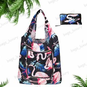 Мода Корзина Женщина многоразовой сумки Складной Shopper сумка водонепроницаемая полиэстер путешествие Организатор мешки плечо Бесплатной доставка