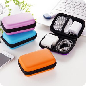 Earphones EVA Box Data Headphone Case Cable Anti-Pressure Finishing Package Zipper Storage Bag Holder