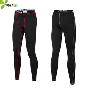 WOSAWE Thermal Fleece Winter Warm Up Cycling Pants Long Johns Men Outdoor Sports Compression Underwear Base Layer Underpants