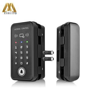 Wooden Door Lock With Password & Card Glass Door Lock Home Office Anti-theft Security Electric Lock XM-R1