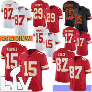 15 Patrick Mahomes Erkekler Futbol Formaları 87 Travis Kelce 32 Tyrann Mathieu Edwards-Harair 17 Hardman Sıcak Satış 2021 Yeni