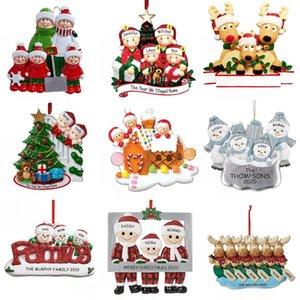 عيد الميلاد الحلي 2020 تحية DIY PVC 2020 الحجر شجرة عيد الميلاد الشنق قلادة الأسرة DIY اسم حلية