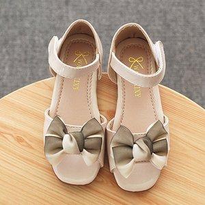 Princesse Chaussures enfants Fille d'été Sandales Bow Décoration Chaussures Mode Sweet Children Doux Bas Cristal CYMV #