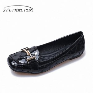 Women Shoes Comfortable Soft Bottom Pregnant Women Flat Flat Shoes Square Buckle Oxford Casual 2020 Spring Black Beige Red Loafers For VfVP#