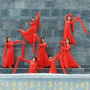 Красный Hanfu платье Китайский традиционный Folk Dance Dance одежда Женщины Национальный костюм феи Ancient Классическая Костюм Po1L #