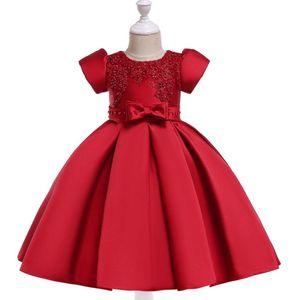 2019 arc formelle fille fille fille robe robe enfants robes pour filles vêtements enfants perle satin percer robe princesse