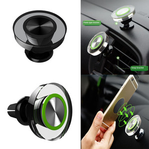 Universal Car Phone Holder Magnetic Air Vent Magnet Crystal Phone Car Stand Metal Magnetic Instrument Panel For Cell Phone Car Mount Holders