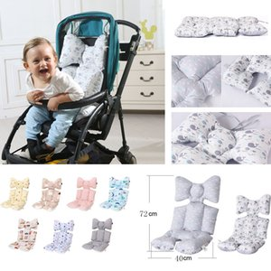 Comfortable Baby Stroller Cushion Seat Cover Mat Thickening Cotton Car Pad Pushchair Urine Pad Liner Cartoon Mattress Baby Cart 201014