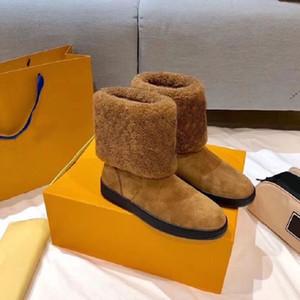 Kadınlar Kar Botları Kardelen Rahat Patik Kardelen Düz Ayak Bileği Çizmeler Yün Seyahat Patik Yeni Moda Lüks Boot Kadınlar Kış Çizmeler Boyutu 35-42