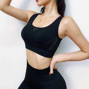 Frauen Übung Outfits gewellte Seamless Yoga Outfits Sport-BH Leggings Set Sportkleidung Set Jogging Tracksuits