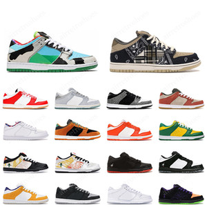 2021 Dunk Low Düşük Chicago Chunky Dunky Low Dunk Brazil Panda Pigeon erkek outdoor trainer spor sneakers