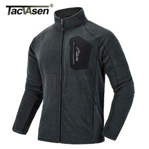 TACVASEN Thin Military Fleece Jacket Coat Winter Men Thermal Fleece Jackets Army Green Clothes Men's Windproof Fleece Liner 201022