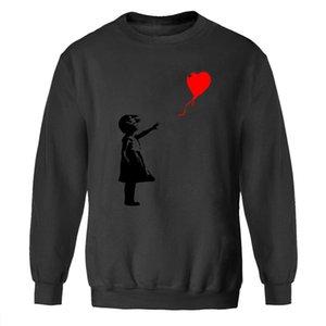 Men Peace Sweatshirts Winter World Balloon Sweatshirt Banksy Love Crewneck Girl Kcco Hoodies Streetwear Fleece Warm Gray Autumn Oufpd