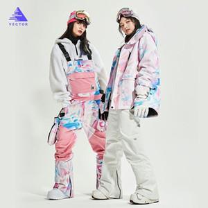 Kadınlar Kayak Suit Markalar Kore Kalın Sıcak Kayak Kar Ceket Kış Su geçirmez Windproof Kayak ve Snowboard Suits ısıtın