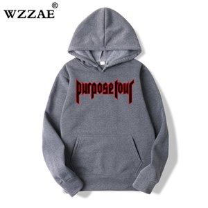 WZZAE Justin Bieber Hip Hop Skate Homens Hoodie Justin Bieber Purpose Turismo Trasher Homens hoodies camisolas 2020 chegam novas X1022