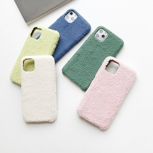 Lamb wool Phone Case For iphone 12 Pro Max Fashion Drop Shockproof Protective Sleeve Cover For iphone Xs 11 8 7 Plus