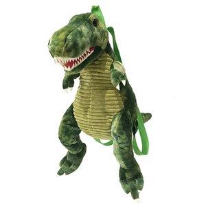 어린이 어린이 선물 CX200606에 대한 창조적 인 3D 공룡 배낭 귀여운 동물 만화 봉제 인형 배낭 공룡 가방