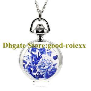 Мода подарок свежие цветы эмаль женские карманные часы ожерелье аксессуары свитер цепи женские висячие часы мужские кварцевые девушки aa00117