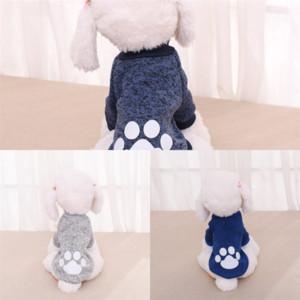 KFZ Yavru Baskı Kedi Sıcak Pamuk Yavru Tulum Giyim Ceket Tasarımcı Köpek Yüksek Kalite Hoodie Kış Köpek Tutun