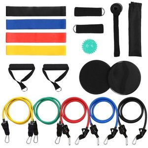 Resistance Bands Set 18Pcs Workout Fintess Equipment Exercise Loop Tube Door Anchor Ankle Strap Cushioned Handle Gym Accessories