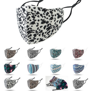 Masks DHL Shipping Washable Dustproof Cycling Mask Fashion Leopard Print Men Face Women Outdoor Sports Mouth Masks 8 Styles XY9
