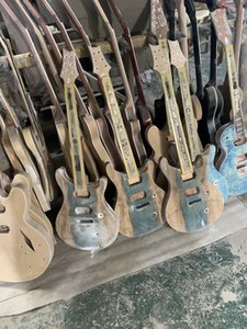 Factory Custom Полуфабриката Helly / Sunburst Electric Guitar с Flame Maple Peneer, DIY полуфабриката гитара, предлагает настроенные