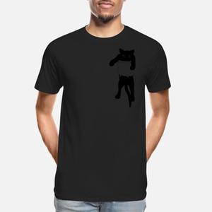 Cat in pocket T Shirt High Quality Unique Slim Fit Tracksuit Hoodie Sweatshirt