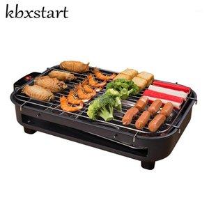 KBXStart Home Portable Portátil sin humo Parrilla eléctrica Hot Dog Churrasqueira Eletrarica Korean Rotisserie Barbacoa Potigments1