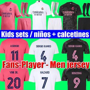Futbol formaları gerçek Real Madrid 20 21 TEHLİKE JOVIC MILITAO camiseta de fútbol 2020 2021 kids VINICIUS JR ASENSIO futbol forması çocuklar MARCELO ISCO camisa de futebol