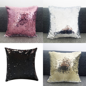 Free Shipping 6pcs lot New style Sublimation Blank Magical Sequins item Pillowcase For Sublimation INK Print DIY Gifts 40x40