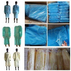 Non-Woven-Schutzkleidung Einweg-Isolation Kleider Kleidung Anzüge Outdoor Schutzmäntel Küche Antistaub-Einweg-Schürzen RRA3796