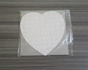 Sublimation Blank Love Heart Shape Puzzles DIY Puzzle Heat Transfer Printing Blank Consumables Child Gifts WB3342