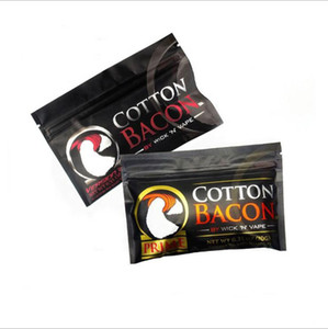 Gold Silver Version Cotton Bacon Prime Organic Pure Cotton Wick for RDA RBA Atomizers Heating Coil Wire Ecig Vaporizers Vape