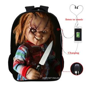 Horrible Killers Schulranzen Chucky Jason Freddy Nonne Printed zurück zu Schultasche Jugendliche Tägliche Rucksack-Spielraum-Rucksack-Beutel bbywtP