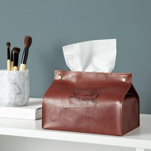 Chic Sweet Life Paper Towel Storage Bag Scandinavian Home Bedside Car PU Leather Tissue Case Tote Nordic Organizer Box