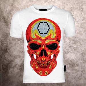 2021 homens lisos camisetas roupas de algodão roupas roupas engraçadas manga curta o pescoço t-shirts Phillip t-shirts pp