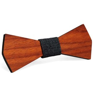 Vintage Red Rosewood Bow Ties Manual Hollow Out Bowknot For Gentleman Wedding Wooden Bowtie Fasion Accessories 9 Styles EEF4310