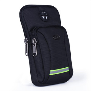 Men Women Waterproof Oxford Cell Mobile Phone Case Cover Waist Pack Hook Armband Belt Bags Purse Small Shoulder Messenger Bags