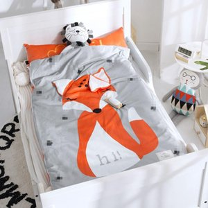 Home Bed bambino sacco a pelo in cotone 100% + Soft Fleece Boy Girl Child Fleabag Mothercare Copertura Orso Bambini AB corpo laterale 70 * 150cm