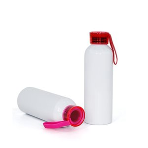 Sublimation Blank Motion Kettle 750ML Colour Silicone Sling Transparent Cover Aluminum Tto Water Bottles DIY 8 36ty J2