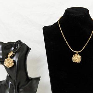 Sunnice Gold Color Ball Collier et boucles d'oreilles Ensemble pour cadeau de fête de mariage Bohemian Style Bijoux de mode Beaux mais légers
