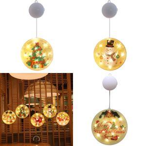Haushalt Dekoration steckbar Farbige Lichter Elch Weihnachtsmann Weihnachtsbaum-Muster-Energiesparlampe String 10 5SY J2