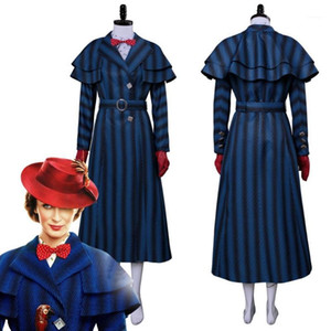 2018 Mary Poppins Returns Cosplay Mary Poppins Costume Dress Coat For Adult Women Halloween Carnival Costumes Clothing1