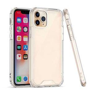 iPhone 12 Mini 11 Pro Max 6 7 8plus XS XR Samsung S9 S10 S11 S105G İçin Şeffaf Akrilik Silikon Kılıflar