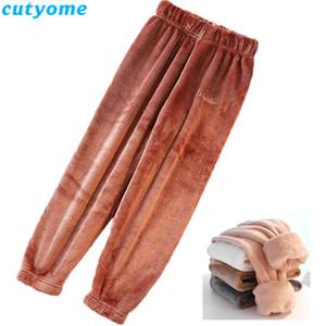 Cutyome Children Fleece Pantalones Invierno Niños Niños Pantalones Casuales Velvet Cálido Grossening Pant Teenage Boys Ropa 12Y C1031