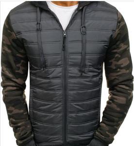 Winter men's clothing men's warm hooded cotton suit fit fashion camouflage cotton suit male