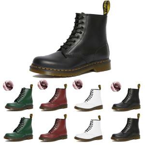 2020 Dr Martins 2976 Hombres Mujeres Botas Negro Blanco Rojo Martins doc cuero de piel de plataforma botas de invierno 35-44 euros
