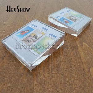 10x Phone Acrylic Price Tag Holder Tablet Desk Label Display Stand Watch Table Paper Rack Hotel Sign Base Universal For All Shop
