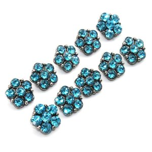 6 colori 10pcs lot crystal 12mm metallo snaps bottone per braccialetto da donna metallo scatto orecchini gioielli H Bbybzr
